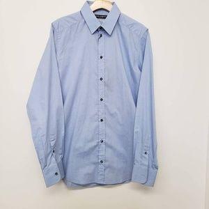 Dolce & Gabbana Gold Fit Button Up Shirt - Blue